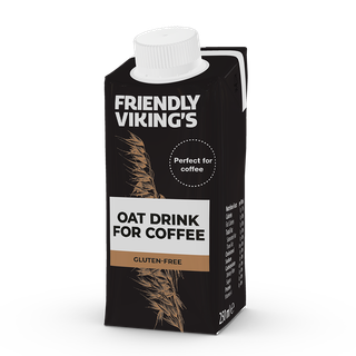 Friendly Viking's kaurajuoma kahviin 250 ml gluteeniton